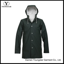 Long Raincoat Mens Fashion Lined Plus Size Raincoat With Hood