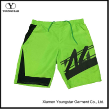 Green Swim Trunks with Black Printed