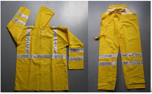 Safety Rainsuit with Reflective Strip